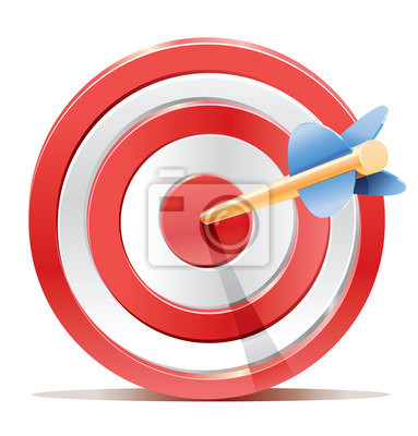 Red celem target rzutki i strzały.