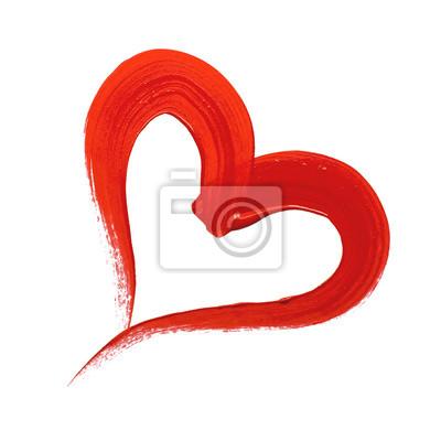 Red malowane serce