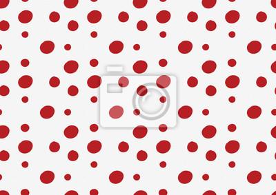 red polka dot w białym tle