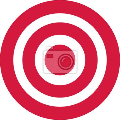 Naklejka Red target