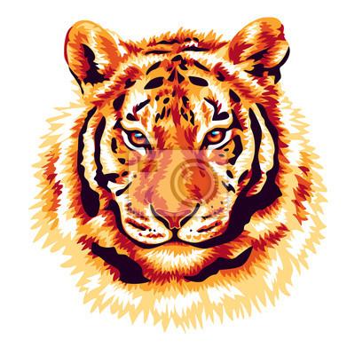 Naklejka Red Tiger