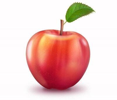 Naklejka Reifer Apfel, freigestellt