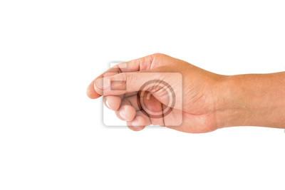 Naklejka ręka trzymać coś
