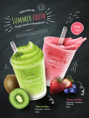 Naklejka Reklamy koktajli owocowych