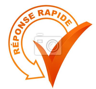 Naklejka réponse Rapide sur symbole valide bleu