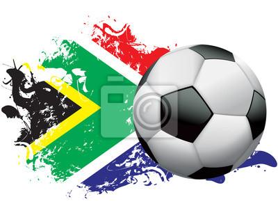 Republika Południowej Afryki Piłka nożna Grunge design