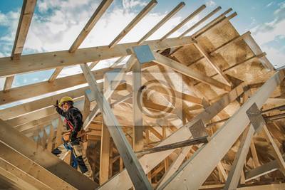 Naklejka Residential Construction Job