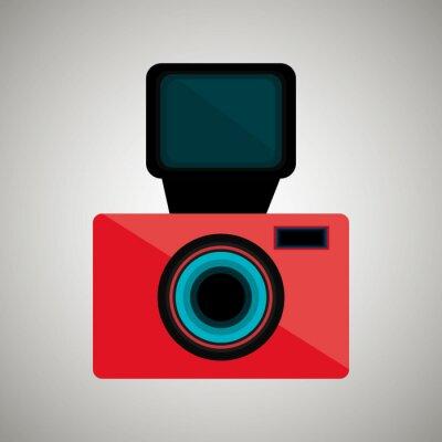 Naklejka retro aparat