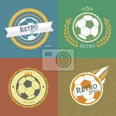 retro emblematy piłkarskie