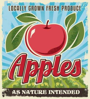 Naklejka retro etykieta jabłko