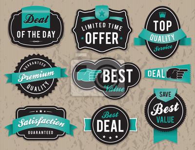 Retro Odznaki i etykiety biznesu