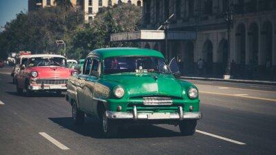 Naklejka Retro: Oldtimer Havana   Kuba