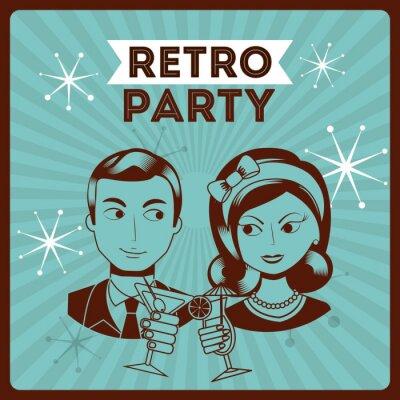 Naklejka retro party