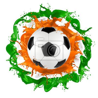 retro piłka irish flag kolor powitalny