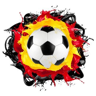 retro piłka Niemiecka flaga kolor powitalny