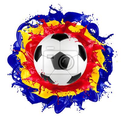retro piłka rumuński flagi kolor powitalny