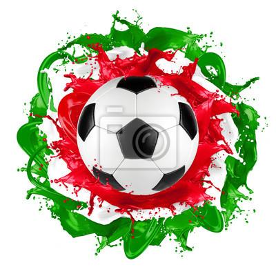 retro piłka włoskiej flagi kolor powitalny