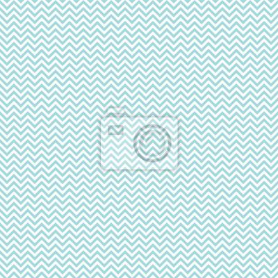 Naklejka Retro Seamless Pattern Mini Chevron Turquoise