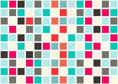 Naklejka Retro Web Design Seamless Tiles - Mozaika placu tle wektora tekstury