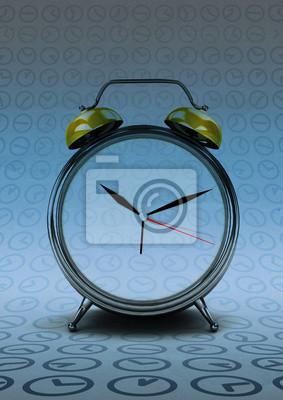 retro zegar liczenia czasu na nowoczesnym streszczenie tle czasu