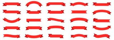 Naklejka Ribbon banner set. Ribbons collection. Red ribbons. Vector ribbon