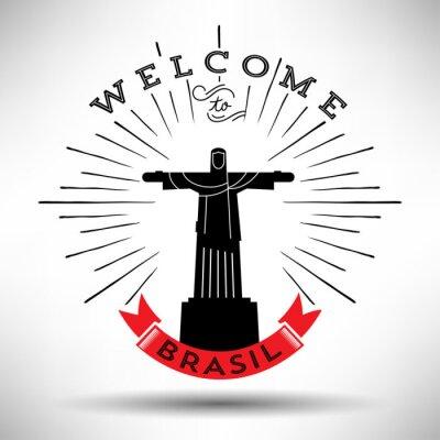 Naklejka Rio de Janeiro Miasto Typografii