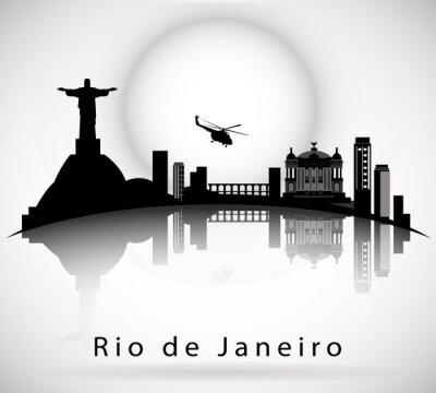 Naklejka Rio de Janeiro Skyline