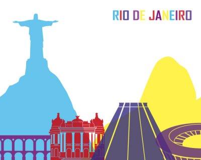 Naklejka Rio de Janeiro skyline pop