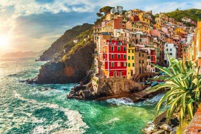 Naklejka Riomaggiore, Cinque Terre, Włochy