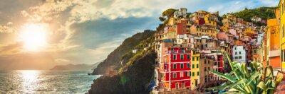 Naklejka Riomaggiore panorama, Cinque Terre, Włochy