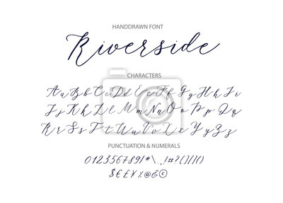 Riverside - odręczne czcionki skryptu.