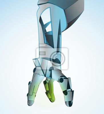 Robotic ręcznie manipulowania w przyszłej ilustracji wektorowych
