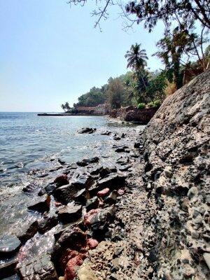 Naklejka Rocky Beaches @ Goa, India