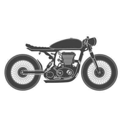 Naklejka rocznik motocykla. cafe racer tematu