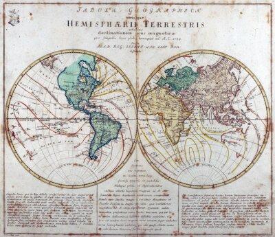 Naklejka rocznika mapę