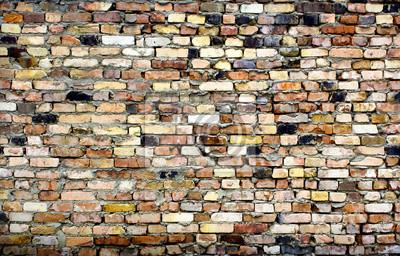 rocznika z cegły ściany