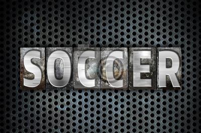 Rodzaj Soccer Koncepcja Metal typograficznego