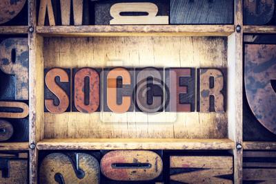 Rodzaj Soccer Koncepcja typograficznego