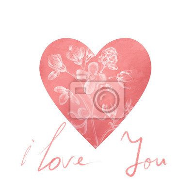 Romantyczny kartka z pozdrowieniami