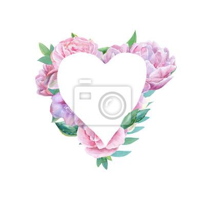 Romantyczny kwiatowy rama