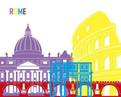 Naklejka Rome skyline pop