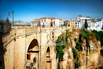 Naklejka Ronda, Hiszpania. Panoramiczny widok starego miasta Ronda. Hiszpania