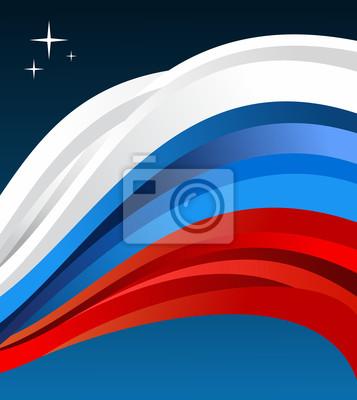 Rosja Flaga ilustracji