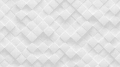 Rotated white cube boxes block background wallpaper with random offset, 3D illustration