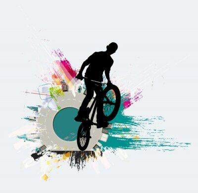 Naklejka Rowerowa bluza, sport tło
