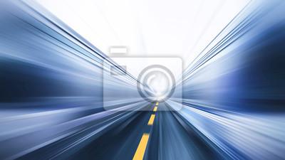 Naklejka rozmycie szybko ruchu wysokiej prędkości drogowego biznesu wykonać koncepcji