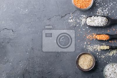 Naklejka Różne rodzaje soli