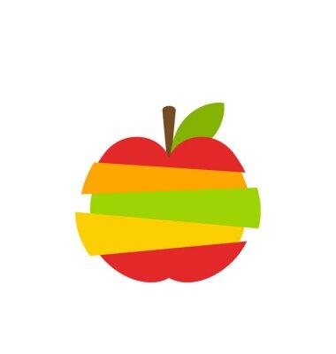 Naklejka Różnego rodzaju owoców Plastry Ułożone