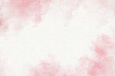 Naklejka Różowa akwarela abstrakcyjne tło.