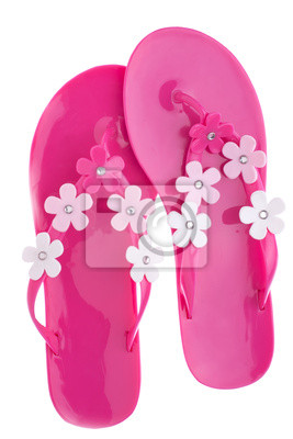 Różowe klapki